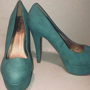 Charlotte Russe Blue Platform heels - Sky Blue